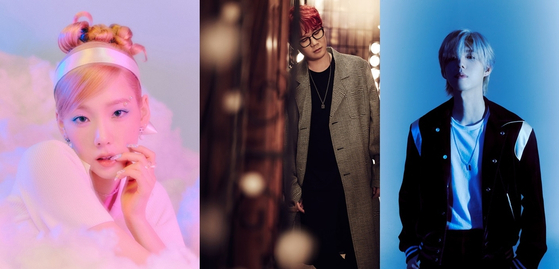"""From left, Taeyeon, Kim Jong-wan and Gaho will participate on the soundtrack for the highly anticipated drama series """"Cliffhanger"""" on tvN. [A STORY]"""