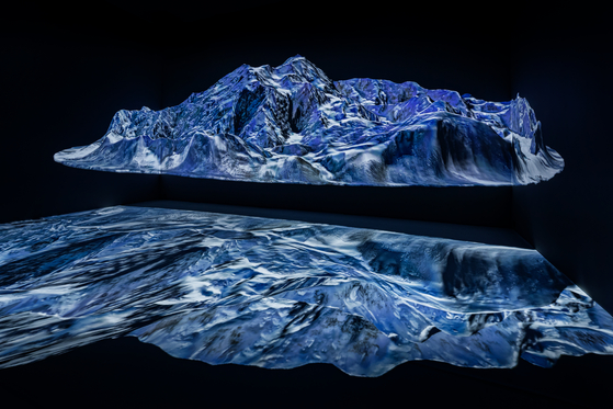 A scene from ″Finite″(2021), an immersive audio-visual installation by artist Yiyun Kang [PKM GALLERY]
