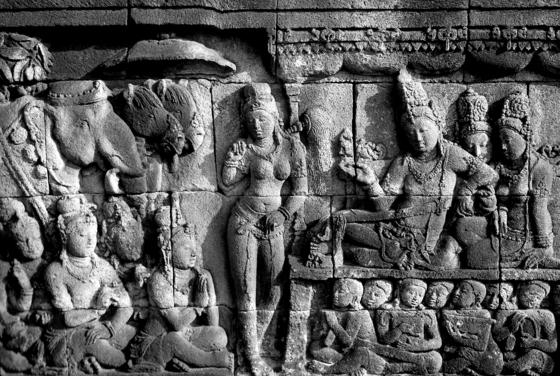 Reliefs on the walls of the Borobudur Temple Compounds [BOROBUDUR PARK MANAGEMENT]