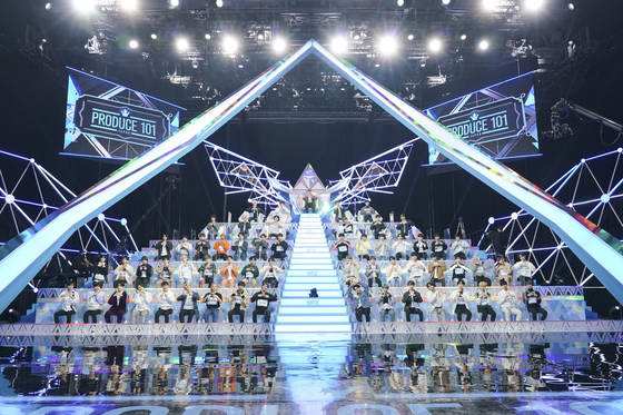 """A scene from the second season of """"Produce 101 Japan"""" [LAPONE ENTERTAINMENT]"""