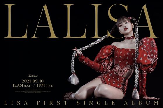 A teaser image of Lisa's first single ″Lalisa″ [YG ENTERTAINMENT]