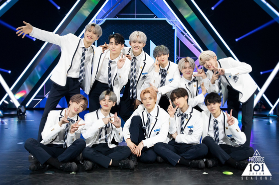 """Boy band INI, formed by the eleven finalists of season two of audition show """"Produce 101 Japan."""" [LAPONE ENTERTAINMENT]"""