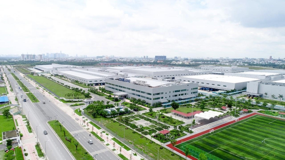 Samsung Electronics' home appliance manufacturing factory in Ho Chi Minh City, Vietnam. [SAMSUNG ELECTRONICS]