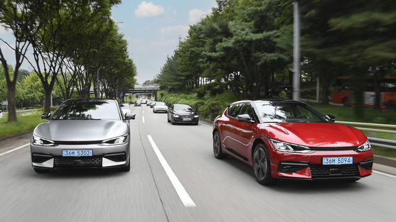 Kia's all-electric EV6 SUVs are on the road. [KIA]