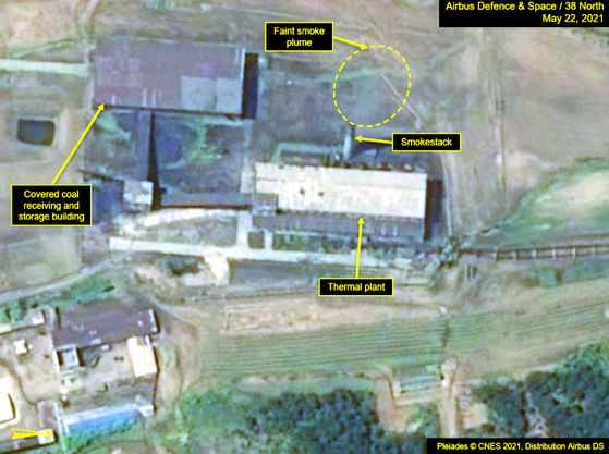 Satellite imagery released by the website 38 North shows activity at the radiochemical laboratory in North Korea's Yongbyon nuclear complex on May 22. [38 NORTH]