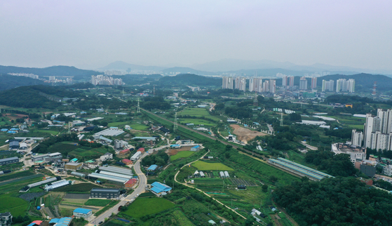 A view of Banwol in Ansan, which will be part of a new town of 41,000 apartments. [YONHAP]