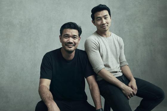Filmmaker Destin Daniel Cretton, left, and actor Simu Liu [WALT DISNEY COMPANY KOREA]