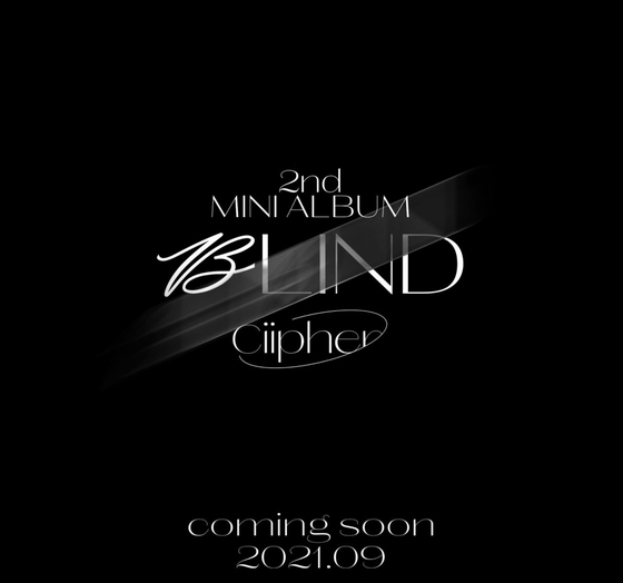Teaser image of Ciipher's second EP ″Blind.″ [RAIN COMPANY]