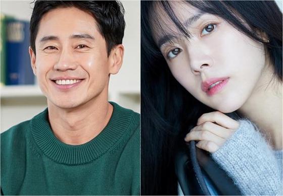 Actors Shin Ha-kyun, left, and Han Ji-min [HODU ENTERTAINMENT, BH ENTERTAINMENT]
