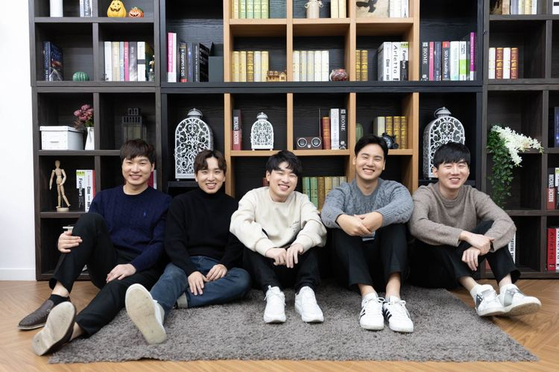 Members of Jin Air Greenwings' StarCraft 2 division in its final year of operation. [JIN AIR GREENWINGS]