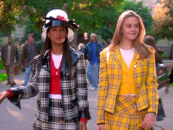 """A scene from the 1995 American teen film """"Clueless,"""" showing the most iconic outfit from the movie, right. [PARAMOUNT PICTURES]"""