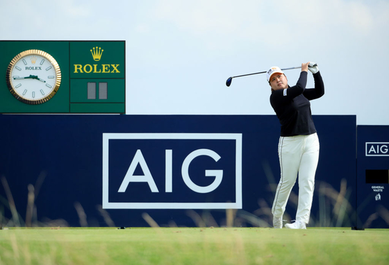Park In-bee tees off at the AIG Women's Open in August 19, at Carnoustie Golf Links in Scotland. [AIG OPEN ORGANIZING COMMITTEE]