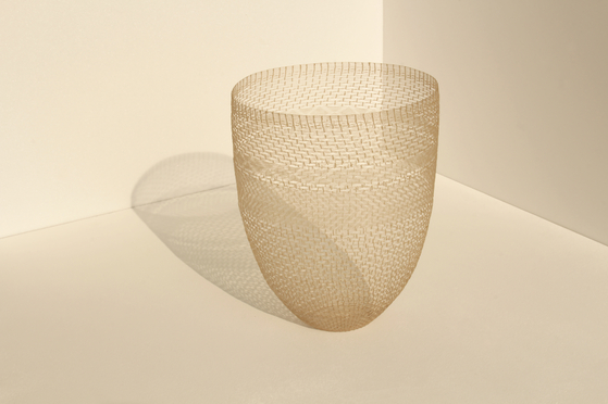 Jeong Da-hye won the grand prize at this year's craft competition with ″Horsehair - Comb Pattern.″ [CHEONGJU CRAFT BIENNALE]