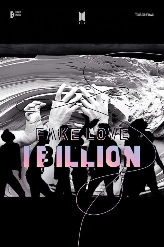 BTS's music video ″Fake Love″ surpassed 1 billion views on YouTube Wednesday. [BIG HIT MUSIC]