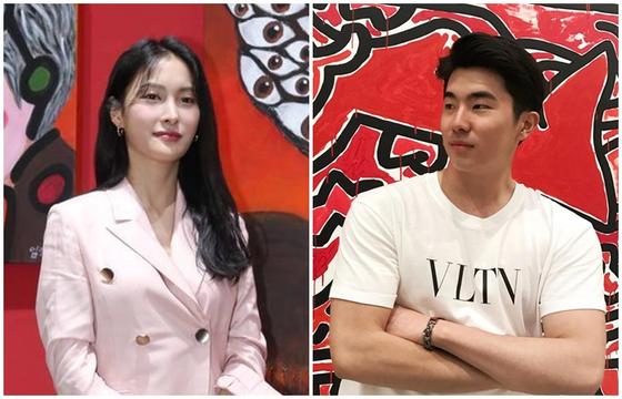 Park Gyu-ri, left, and Song Ja-ho [ILGAN SPORTS]