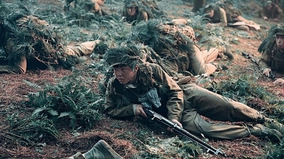 """A scene from Chinese film """"The Sacrifice,"""" which depicts the last major battle of the Korean War (1950-53) in which China sent its troops to support North Korea. [SCREEN CAPTURE]"""