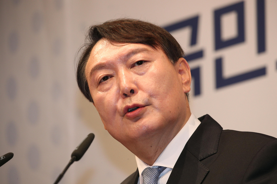Presidential candidate and former prosecutor general Yoon Seok-youl is shown in this file photo dated June 29. [NEWS1]