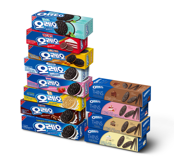 Well-loved for over a hundred years, Oreo cookies come in a wide range of flavors including mint chocolate. [DONGSUH FOODS]
