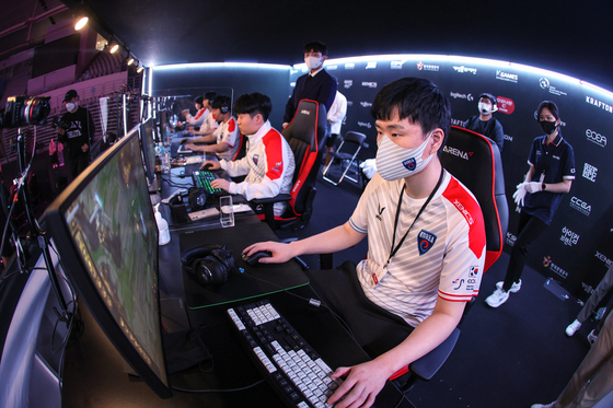 The Korean League of Legends team compete at the Esports Championships East Asia. [KESPA]