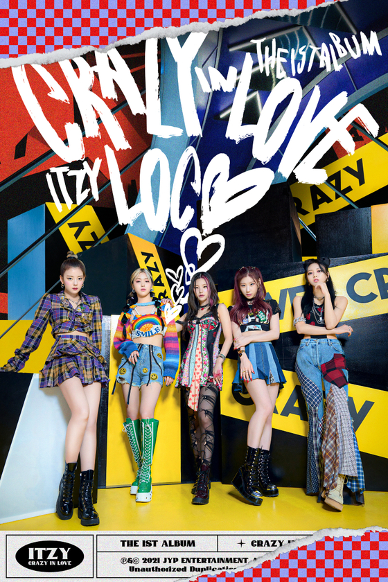A teaser image for girl group Itzy's upcoming album ″Crazy in Love″ [JYP ENTERTAINMENT]