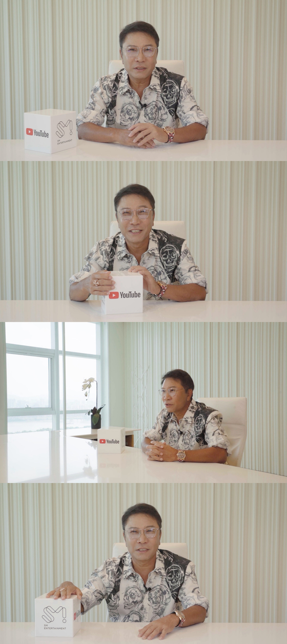 """Lee Soo-man, chief producer of SM Entertainment, shared some of his insights on the future of K-pop in """"Google for Korea″ on Wednesday. [SM ENTERTAINMENT]"""