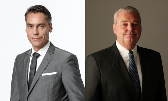Right, Till Scheer, the newly appointed managing director of Audi Volkswagen Korea, and Rene Koneberg [AUDI VOLKSWAGEN KOREA]