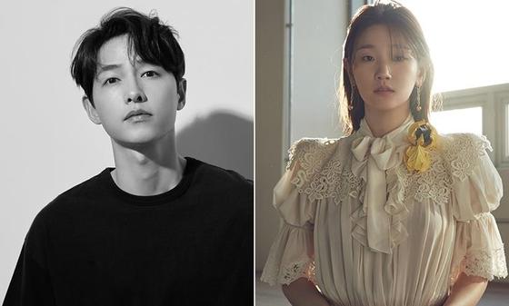 Actors Song Joong-ki, left and Park So-dam [HISTORY D&C, ARTIST COMPANY]