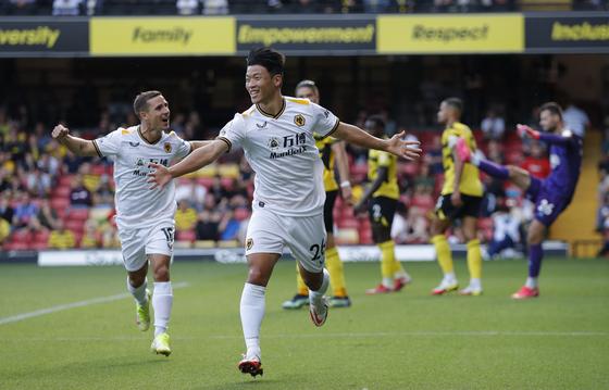 Hwang Hee-chan of Wolverhampton Wanderers [REUTERS/YONHAP]