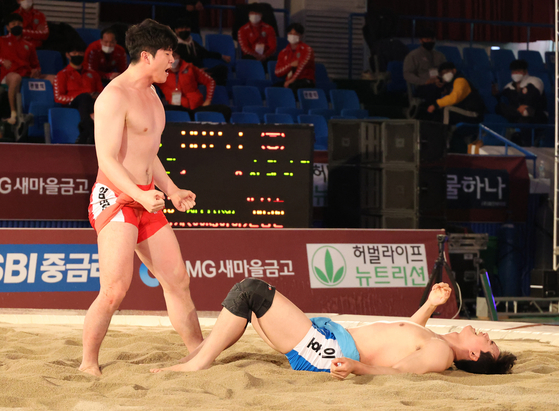 Ssireum wrestle Lee Tae-hyun [JOONGANG ILBO]