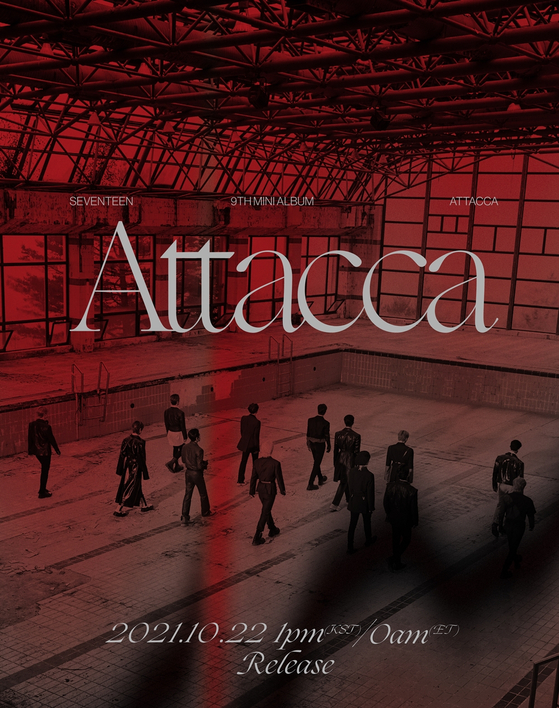 A teaser image for Seventeen's upcoming EP ″Attacca″ [PLEDIS]