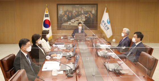 The monetary policy board of the Bank of Korea decides to raise the country's benchmark interest rate by 25 basis points to 0.75 percent in August. [BANK OF KOREA]