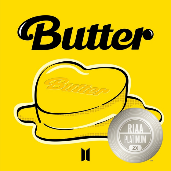 """""""Butter"""" with RIAA's Double Platinum certification [BIG HIT MUSIC]"""