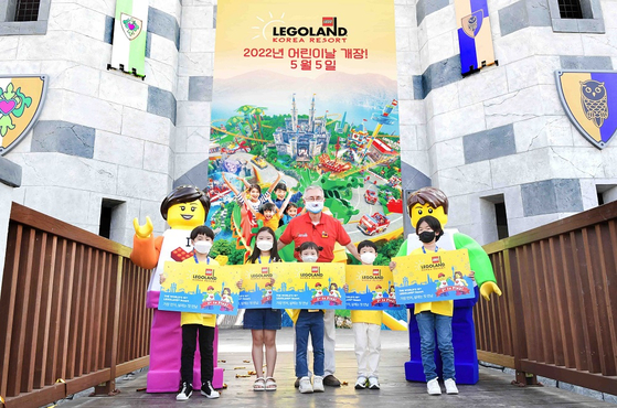 Kim Young-pil, Divisional Director of Legoland Korea Resort, promotes the opening of Legoland Korea Resort next May. [LEGOLAND KOREA RESORT]