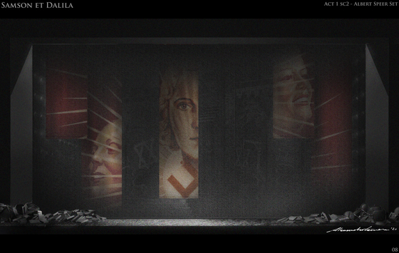 """The stage design of Korean National Opera's upcoming production of """"Samson and Delilah"""" by Camille Saint-Saens. [KOREAN NATIONAL OPERA]"""