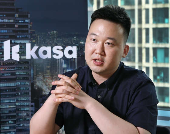 Yea Chang-whan, 31-year-old founder and CEO of Kasa Korea, speaks during an interview with the Korea JoongAng Daily in July at the start-up's office in Gangnam District, southern Seoul. [PARK SANG-MOON]