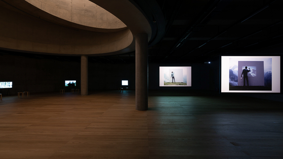 The exhibition space on floor B2 in the new SongEun museum building designed by Herzog & de Meuron [SONGEUN]