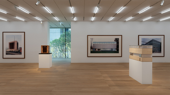 Photographs by the famous German artist Thomas Ruff of buildings designed by Herzog & de Meuron around the world with the building's models on view at the new SongEun museum building [SONGEUN]