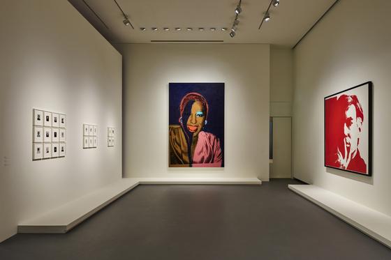 "From left, polaroid photos, ""Ladies and Gentlemen (1975)"" and ""Self-Portrait (1967)"" [ESPACE LOUIS VUITTON SEOUL]"