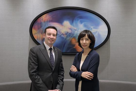 Hotel manager Vincent Gernigon, left, and general manager Cho Min-sook of Sofitel Ambassador Seoul [SOFITEL AMBASSADOR SEOUL]