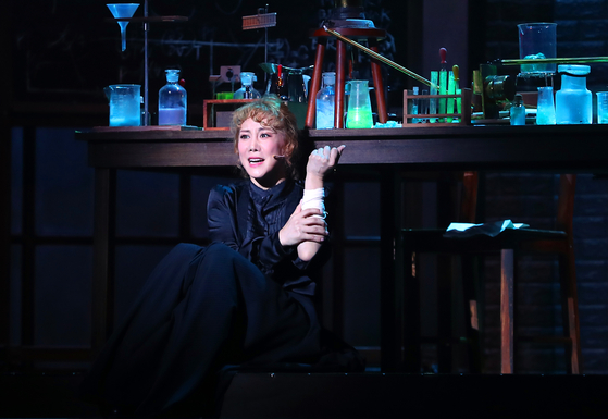 Musical actor and singer Kim So-hyang will stage her first-ever solo concert, showcasing various musical numbers she's performed in, inclucing ″Marie Curie,″ pictured above. [YONHAP]
