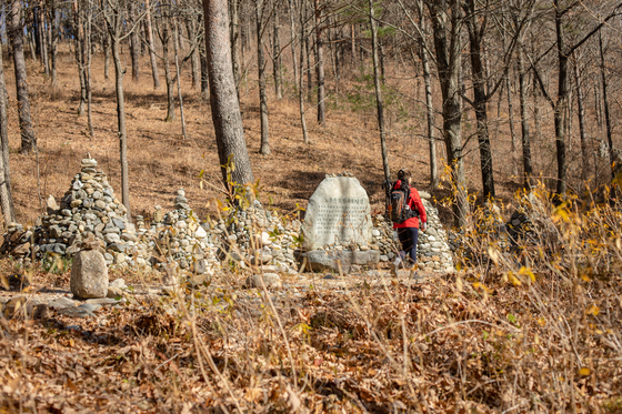A walking trail at Mount Nochu in Gangneung, Gangwon. [KOREA TOURISM ORGANIZATION]