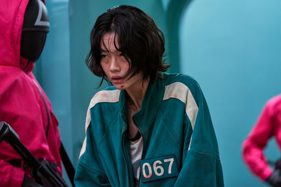 """Actor Jung Ho-yeon plays a character named Sae-byuk in """"Squid Game."""" [NETFLIX]"""