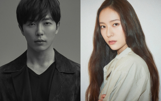 Actors Kim Jae-wook, left, and Jung Soo-jung [MANAGEMENT SOOP, H& ENTERTAINMENT]