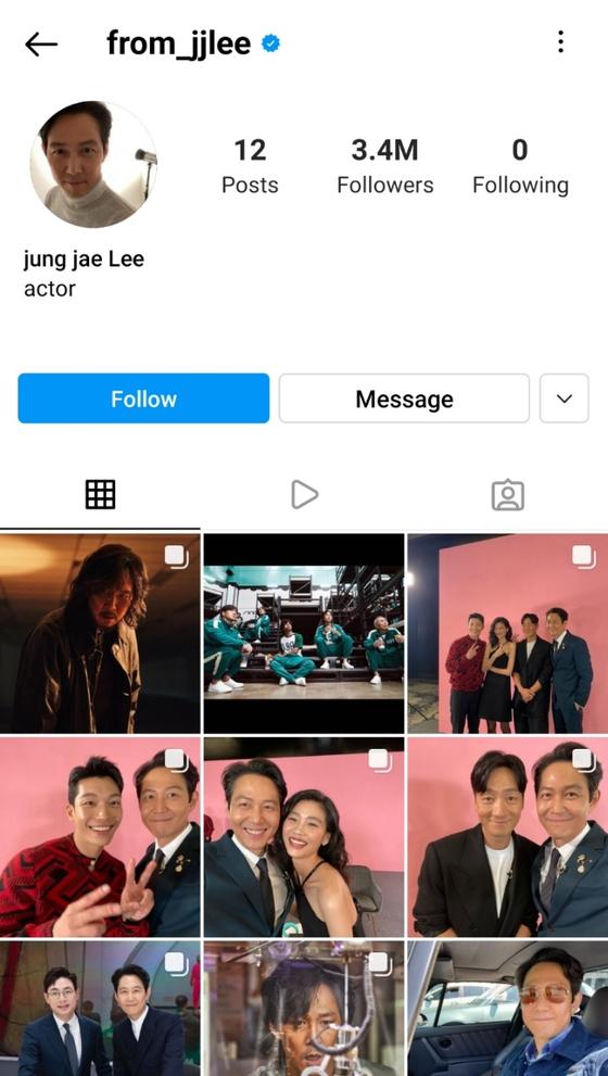 Lee's Instagram account [SCREEN CAPTURE]