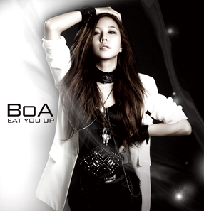 """""""Eat You Up"""" (2008) was one of singer BoA's English-lyric songs aimed for the U.S. market. [SM ENTERTAINMENT]"""
