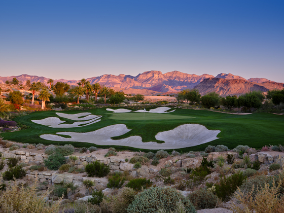 Hole seven of The Summit Club in Las Vegas, Nevada [THE HENEBRYS]