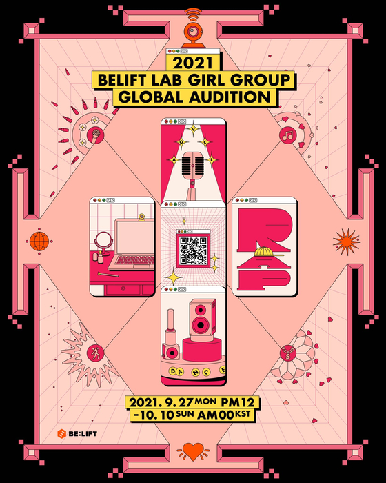 A poster for entertainment firm Belift Lab's global girl group audition [BELIFT LAB]