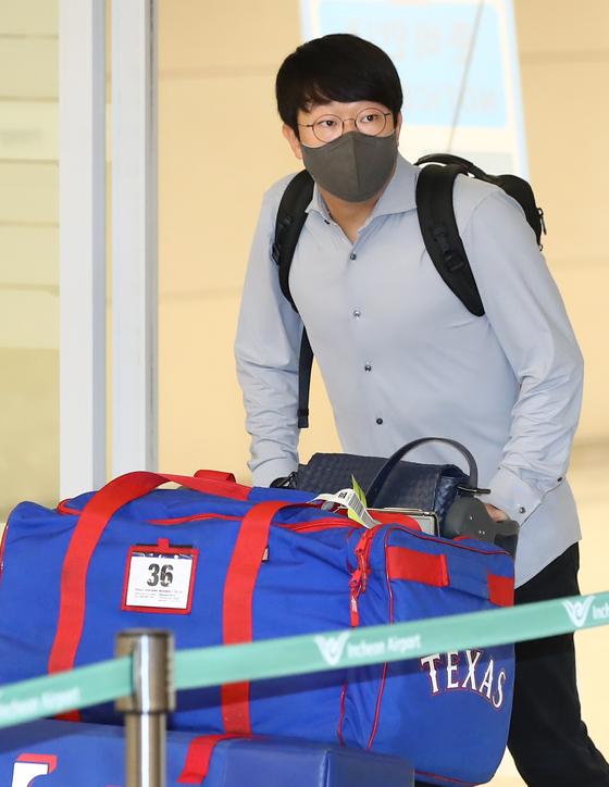 Yang Hyeon-jong arrives at Incheon International Airport on Oct. 5 [YONHAP]