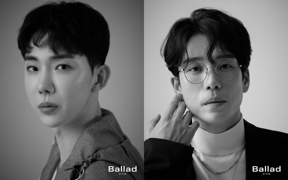 The teaser photos for two members of 2AM: Jo Kwon, left, and Changmin [CULTURE DEPOT]
